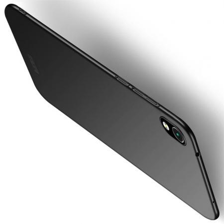 Ультратонкий Матовый Кейс Пластиковый Накладка Чехол для Xiaomi Redmi 7A Черный
