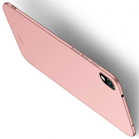 Ультратонкий Матовый Кейс Пластиковый Накладка Чехол для Xiaomi Redmi 7A Розовое Золото