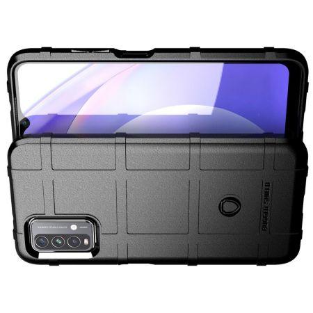 Матовый Кейс Накладка Чехол для Xiaomi Redmi 9T Черный
