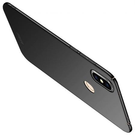 Ультратонкий Матовый Кейс Пластиковый Накладка Чехол для Xiaomi Redmi Note 6 / Note 6 Pro Черный