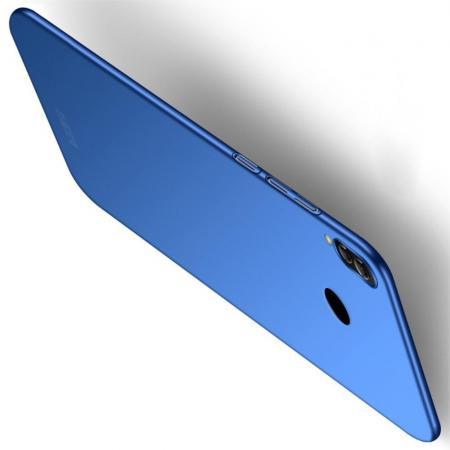 Ультратонкий Матовый Кейс Пластиковый Накладка Чехол для Xiaomi Redmi Note 7 / Note 7 Pro Синий