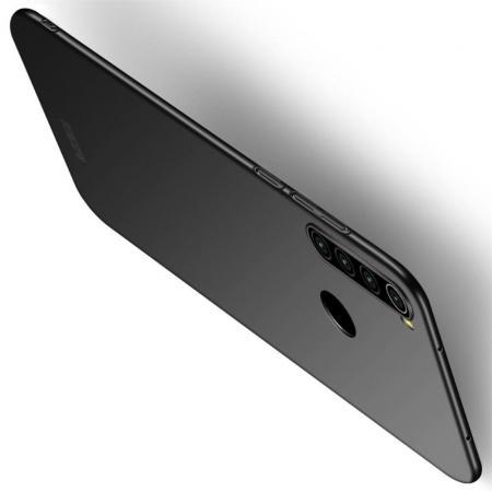 Ультратонкий Матовый Кейс Пластиковый Накладка Чехол для Xiaomi Redmi Note 8 Черный