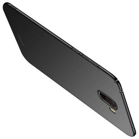Ультратонкий Матовый Кейс Пластиковый Накладка Чехол для Xiaomi Redmi Note 8 Pro Черный