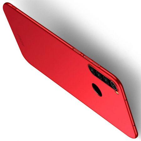 Ультратонкий Матовый Кейс Пластиковый Накладка Чехол для Xiaomi Redmi Note 8T Красный