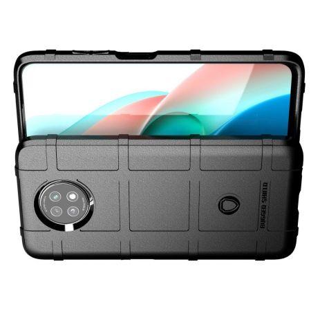 Ультратонкий Матовый Кейс Пластиковый Накладка Чехол для Xiaomi Redmi Note 9T Черный