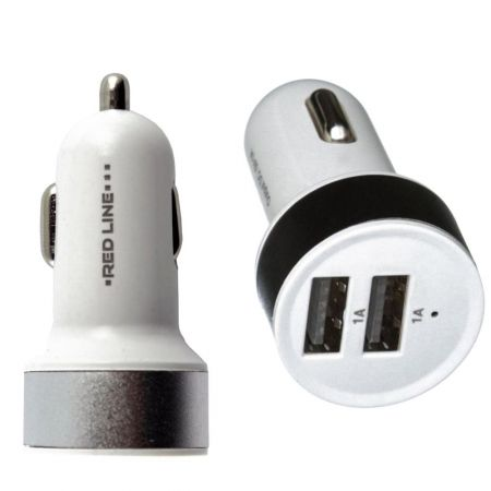 Универсальная автомобильная зарядка 2 USB для телефона 1А