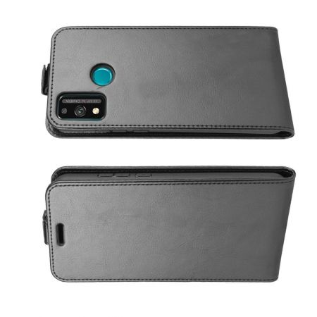 Вертикальный флип чехол книжка с откидыванием вниз для Huawei Honor 9X Lite - Черный