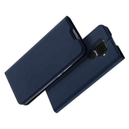 Вертикальный флип чехол книжка с откидыванием вниз для Huawei Mate 30 Lite - Синий