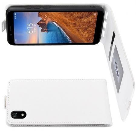 Вертикальный флип чехол книжка с откидыванием вниз для Huawei Nova 5 - Белый