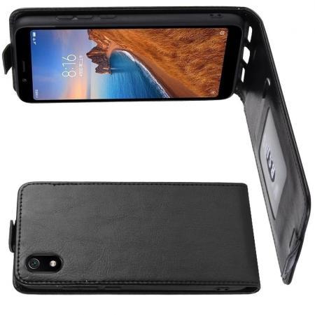 Вертикальный флип чехол книжка с откидыванием вниз для Huawei Nova 5 - Черный