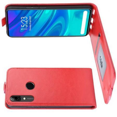 Вертикальный флип чехол книжка с откидыванием вниз для Huawei P Smart Z - Красный