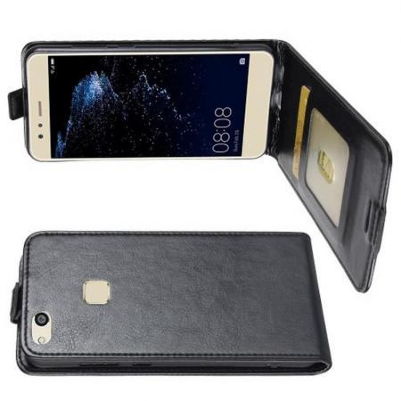 Вертикальный флип чехол книжка с откидыванием вниз для Huawei P10 Lite - Черный
