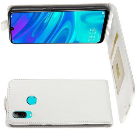 Вертикальный флип чехол книжка с откидыванием вниз для Huawei P30 Lite - Белый