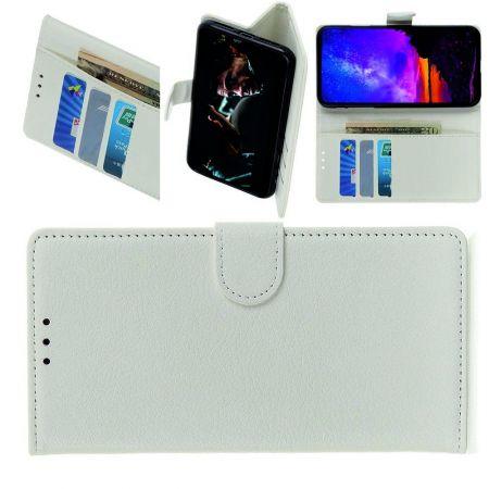 Вертикальный флип чехол книжка с откидыванием вниз для LG G8X ThinQ - Белый