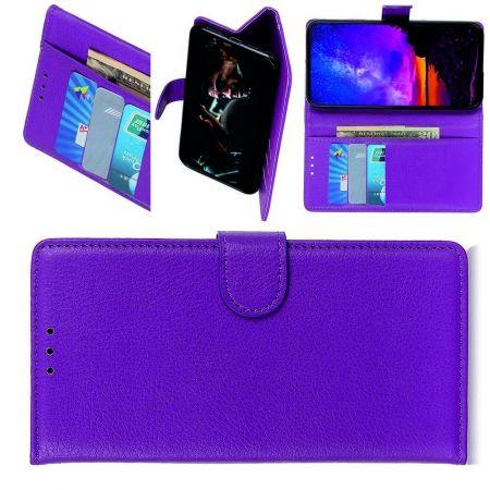Вертикальный флип чехол книжка с откидыванием вниз для LG G8X ThinQ - Фиолетовый