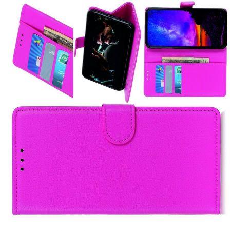 Вертикальный флип чехол книжка с откидыванием вниз для LG G8X ThinQ - Розовый
