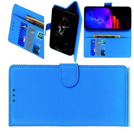Вертикальный флип чехол книжка с откидыванием вниз для LG G8X ThinQ - Синий