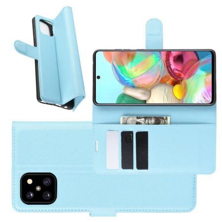 Вертикальный флип чехол книжка с откидыванием вниз для Samsung Galaxy Note 10 Lite - Синий