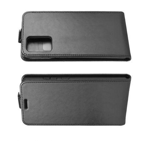 Вертикальный флип чехол книжка с откидыванием вниз для Samsung Galaxy Note 20 - Черный