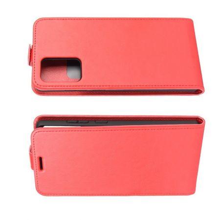 Вертикальный флип чехол книжка с откидыванием вниз для Samsung Galaxy Note 20 - Красный