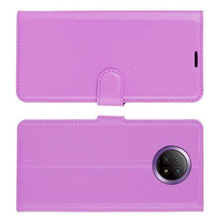 Вертикальный флип чехол книжка с откидыванием вниз для Xiaomi Redmi Note 9T - Фиолетовый