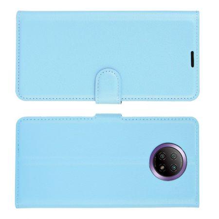 Вертикальный флип чехол книжка с откидыванием вниз для Xiaomi Redmi Note 9T - Синий