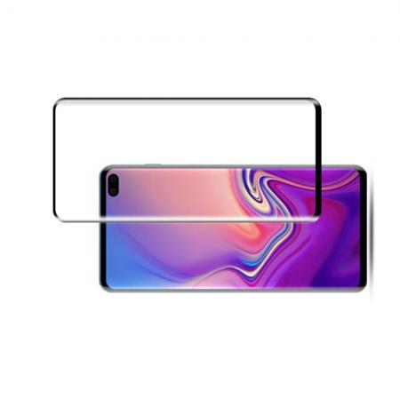 Закаленное Изогнутое Защитное DF Tempered 3D Стекло для Samsung Galaxy S10 Plus Черное