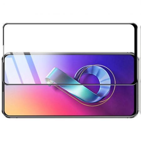 Закаленное Полноклеевое Full Glue Screen Cover IMAK Pro+ Стекло для Asus Zenfone 6 ZS630KL Черное