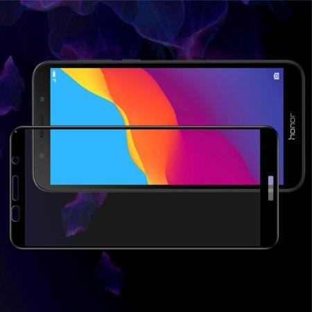 Закаленное Полноклеевое Full Glue Screen Cover IMAK Pro+ Стекло для Huawei Y5 2018 / Y5 Prime 2018 / Honor 7A Черное