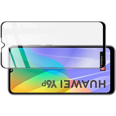 Закаленное Полноклеевое Full Glue Screen Cover IMAK Pro+ Стекло для Huawei Y6p Черное