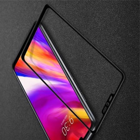 Закаленное Полноклеевое Full Glue Screen Cover IMAK Pro+ Стекло для LG G7 ThinQ Черное