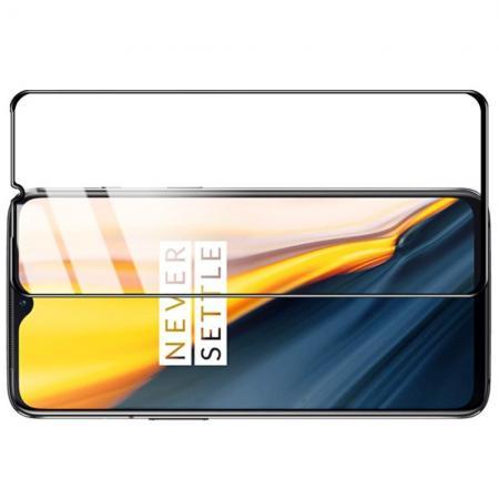Закаленное Полноклеевое Full Glue Screen Cover IMAK Pro+ Стекло для OnePlus 7 Черное
