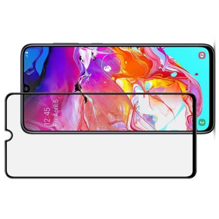 Закаленное Полноклеевое Full Glue Screen Cover IMAK Pro+ Стекло для Samsung Galaxy A70 Черное