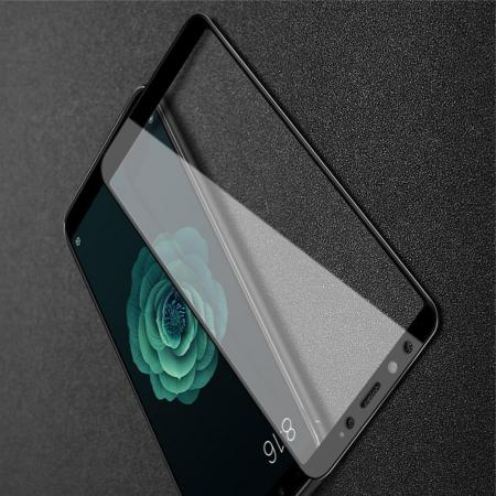 Закаленное Полноклеевое Full Glue Screen Cover IMAK Pro+ Стекло для Xiaomi Mi A2 / Mi 6X Черное