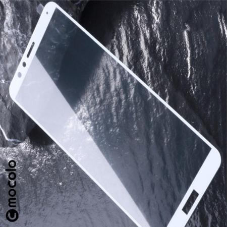 Закаленное Полный Охват Экрана MOCOLO Tempered Стекло для Huawei Honor 7X Белое