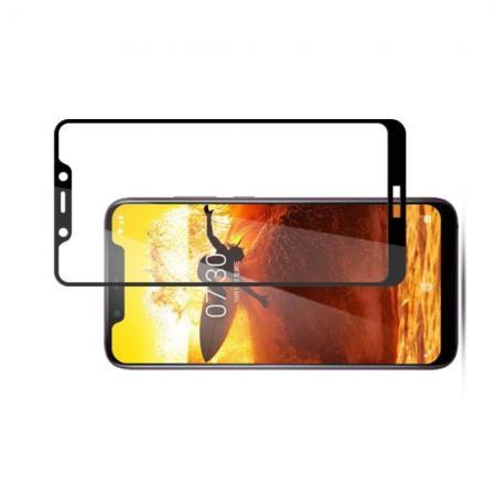 Закаленное Полный Охват Экрана MOCOLO Tempered Стекло для Nokia 7.1 Plus Черное