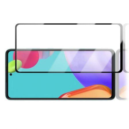Закаленное Полный Охват Экрана Tempered Стекло для Samsung Galaxy A52 Черное