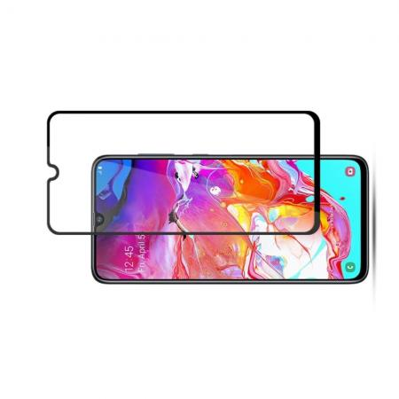 Закаленное Полный Охват Экрана MOCOLO Tempered Стекло для Samsung Galaxy A70 Черное
