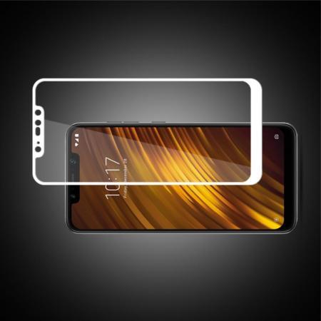 Закаленное Полный Охват Экрана MOCOLO Tempered Стекло для Xiaomi Pocophone F1 Белое