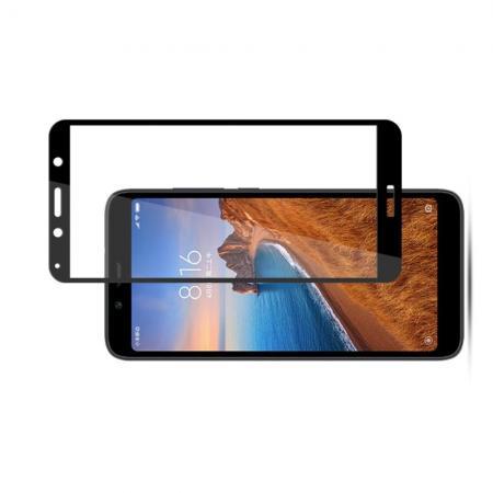Закаленное Полный Охват Экрана MOCOLO Tempered Стекло для Xiaomi Redmi 7A Черное