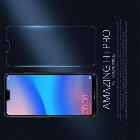Закаленное Защитное Олеофобное NILLKIN H+PRO Прозрачное стекло на экран Huawei P20 lite