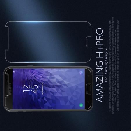 Закаленное Защитное Олеофобное NILLKIN H+PRO Прозрачное стекло на экран Samsung Galaxy J4 2018 SM-J400