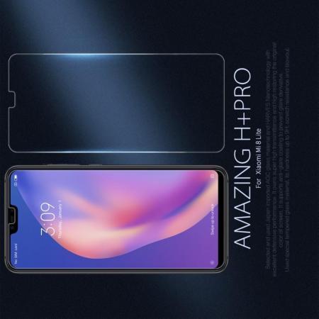Закаленное Защитное Олеофобное NILLKIN H+PRO Прозрачное стекло на экран Xiaomi Mi 8 Lite