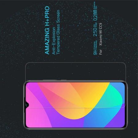 Закаленное Защитное Олеофобное NILLKIN H+PRO Прозрачное стекло на экран Xiaomi Mi 9 Lite