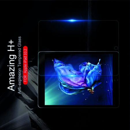 Закаленное Защитное Олеофобное NILLKIN H Прозрачное стекло на экран iPad 10.2 2019