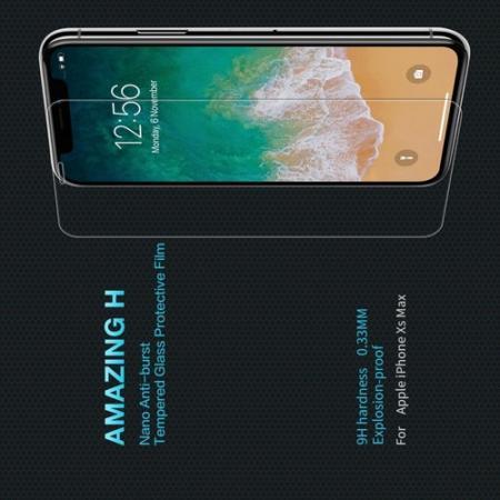 Закаленное Защитное Олеофобное NILLKIN H Прозрачное стекло на экран iPhone XS Max