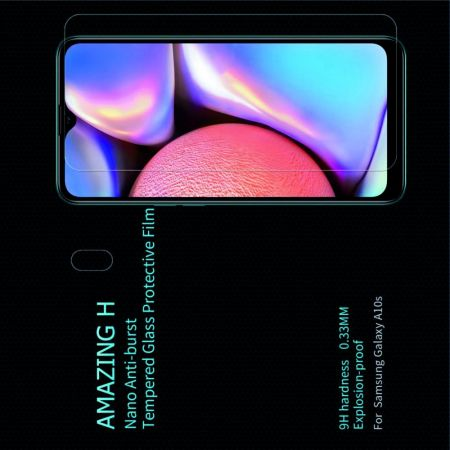 Закаленное Защитное Олеофобное NILLKIN H Прозрачное стекло на экран Samsung Galaxy A10s