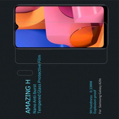 Закаленное Защитное Олеофобное NILLKIN H Прозрачное стекло на экран Samsung Galaxy A20s