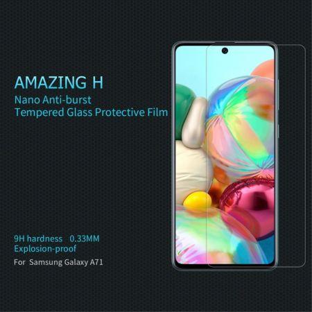 Закаленное Защитное Олеофобное NILLKIN H Прозрачное стекло на экран Samsung Galaxy A71 / 10 Lite