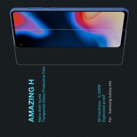 Закаленное Защитное Олеофобное NILLKIN H Прозрачное стекло на экран Samsung Galaxy A8s